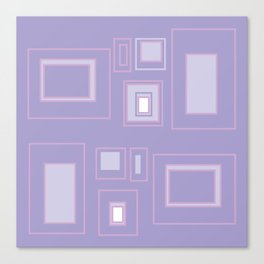 Abstract lilac background with squares Canvas Print