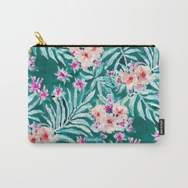 FRONDS ON FLEEK Tropical Palm Floral Carry-All Pouch
