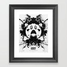 Kirby Ink Blot Geek Psychological Disorders Framed Art Print
