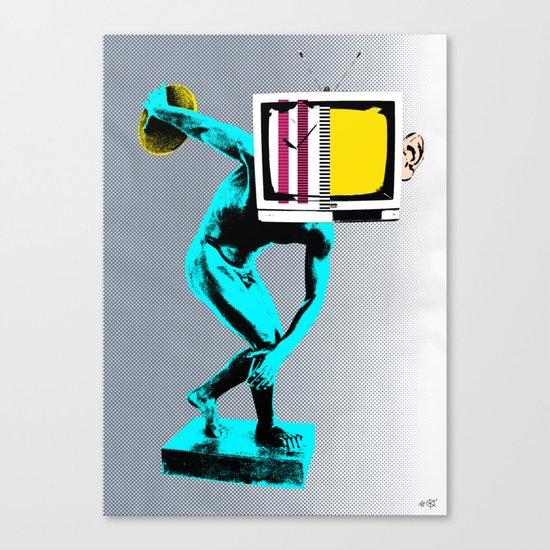 Diskus TV Canvas Print