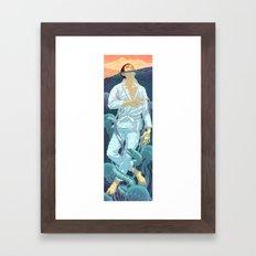 Keep Treading Framed Art Print