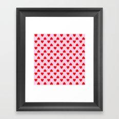 Heart lollipop pattern Framed Art Print