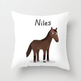 "Custom Artwork, ""Niles"" Throw Pillow"
