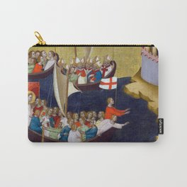 Bernardo Daddi Arrival of Saint Ursula at Cologne Carry-All Pouch