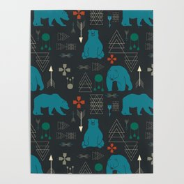 Tribal Bear Poster