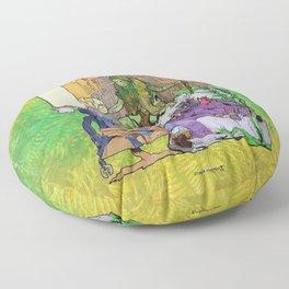 Bloom: An Awakening - The Holy Divinity Marius Janus Gifting the Bloom Shard Floor Pillow
