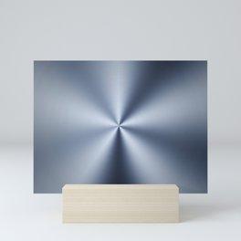Radial Brushed Metal Texture - Industrial Graphic Design Mini Art Print