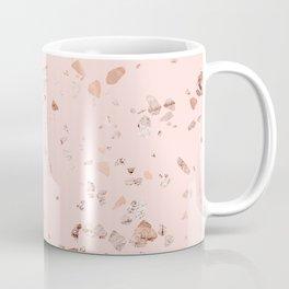 Rose Gold Pink Terrazzo Coffee Mug