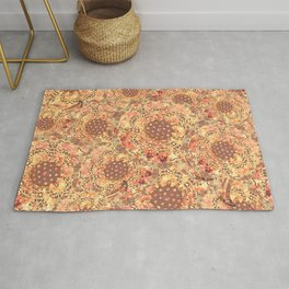 P242020 Colourburst flowers honey Rug