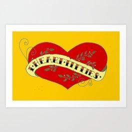 I Heart Titties, Colourful Art Print