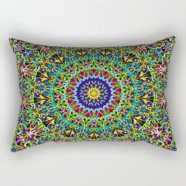 Happy Spiritual Garden Mandala Rectangular Pillow