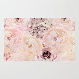 Midsummer Roses- Vintage Rose Pattern Rug