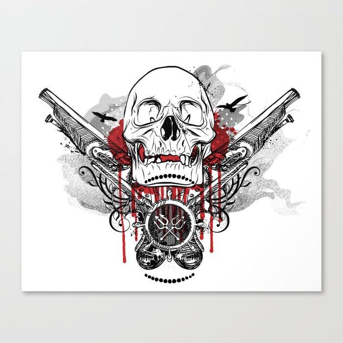 Pirate Skull and Pistols  Canvas Print