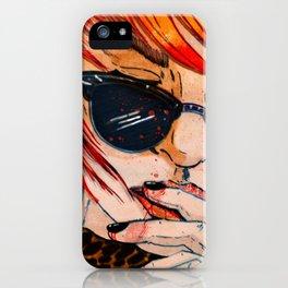 LUNETTES NOIRES iPhone Case