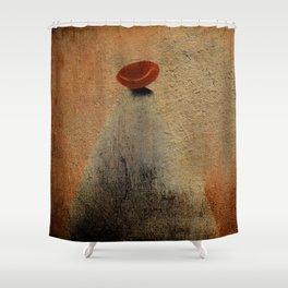 Señora con Sombrero y Abrigo Shower Curtain