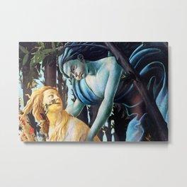"Sandro Botticelli ""Primavera"" Chloris and Zephyrus Metal Print"
