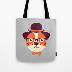 Hipster Dog Tote Bag