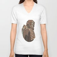 engineer V-neck T-shirts featuring The Engineer by sens