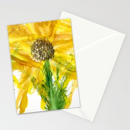 """""""Sunflower #3"""" Floral Painting by Kaytiebug of Katty Candles & Jewelry Stationery Cards"""