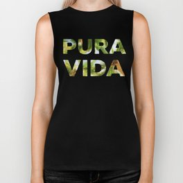 Pura Vida Costa Rica Palm Trees Biker Tank