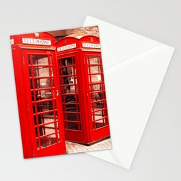 Red phone boxes Stationery Cards