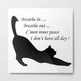 When inner peace eludes one Metal Print
