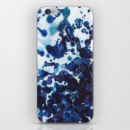 Big ocean waves crashing on the rocks. iPhone Skin