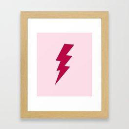 Red Lightning Bolt Framed Art Print