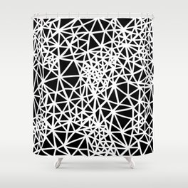 Glass Jewerly in black Shower Curtain