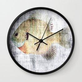 Grunge Fish Wall Clock