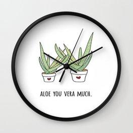 Aloe You Very Much Wall Clock