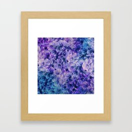 Hibiscus Flower Pattern Framed Art Print