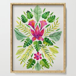 Tropical Symmetry – Pink & Green Serving Tray