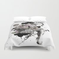 circus Duvet Covers featuring CIRCUS by TOO MANY GRAPHIX