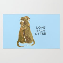 Love each otter Rug