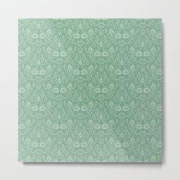 Damask pattern Metal Print