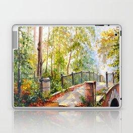 Bridge in the autumn park Laptop & iPad Skin