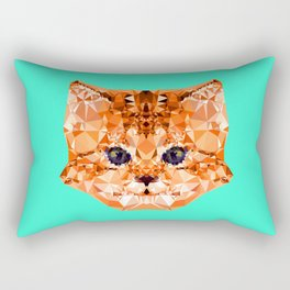 Geometric Kitten Rectangular Pillow