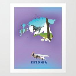 Estonia Art Print