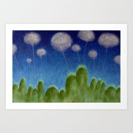 Hills and Clouds Art Print