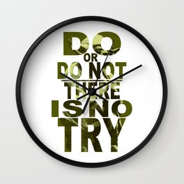 Star Wars Yoda Do or Do Not Wall Clock