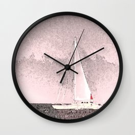 """Sailboat #8"" Art of the Sea by Murray Bolesta Wall Clock"