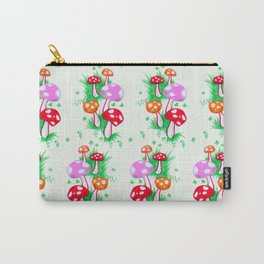 Funky Mushroom Pattern Carry-All Pouch