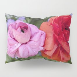 Ranunculus with water drops Pillow Sham