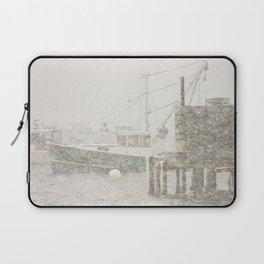 Bass Harbor in Heavy Snowstorm, Mount Desert Island, Maine Laptop Sleeve