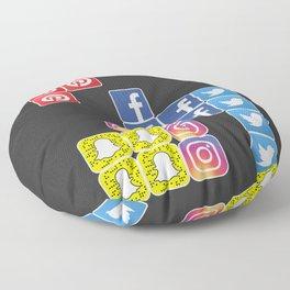 Social Media Tetris Floor Pillow