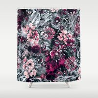 dahlia Shower Curtains featuring Dahlia by RIZA PEKER