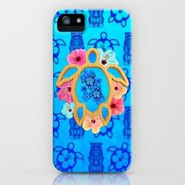 Hawaiian Blue Honu iPhone Case