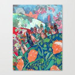 Floral Migrant Quilt Canvas Print