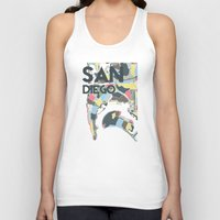 san diego Tank Tops featuring San Diego by Studio Tesouro